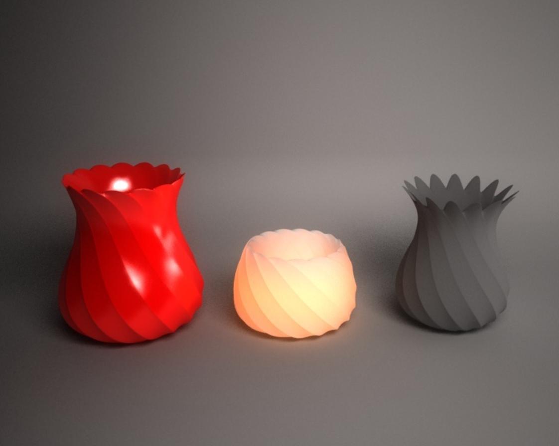 Capture d'écran 2017-05-12 à 11.22.51.png Download free STL file Twisted vases and tealight holder • Design to 3D print, Pratrik