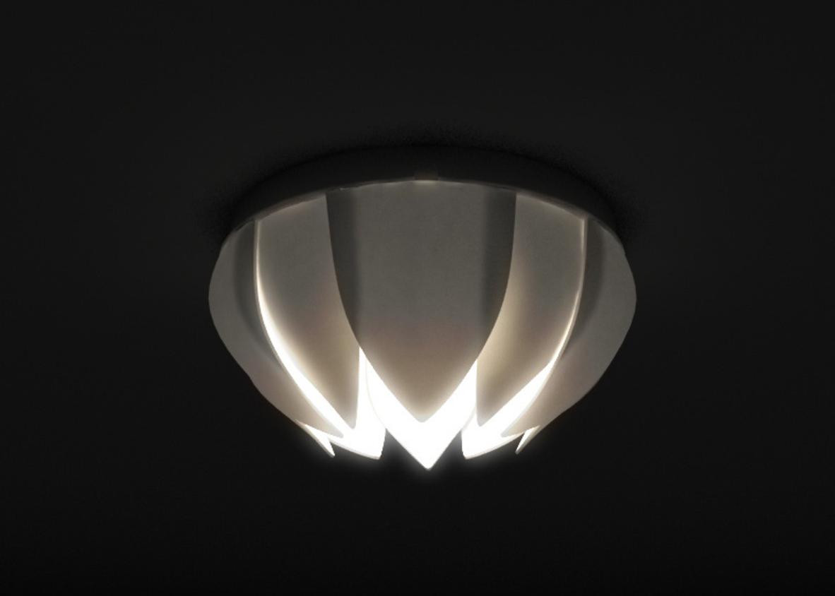 """Capture d'écran 2017-05-12 à 10.50.29.png Download free STL file Lotus ceiling lamp based on cheap IKEA Lamp mount """"Lock"""" • 3D print design, Pratrik"""