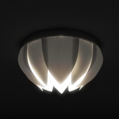 "Objet 3D gratuit Lotus ceiling lamp based on cheap IKEA Lamp mount ""Lock"", Pratrik"