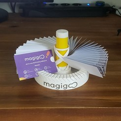 Download free 3D printing templates desktop card holder # MAGIGOO, mrj33