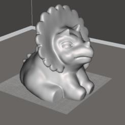 Download free 3D printer templates Triceratops - baby, orangeteacher
