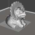 Imprimir en 3D gratis Triceratops - bebé, orangeteacher