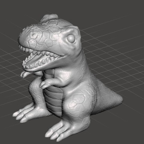 Free 3D model T-rex, orangeteacher