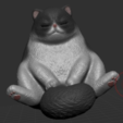 Descargar archivo 3D gratis gato dormido, orangeteacher