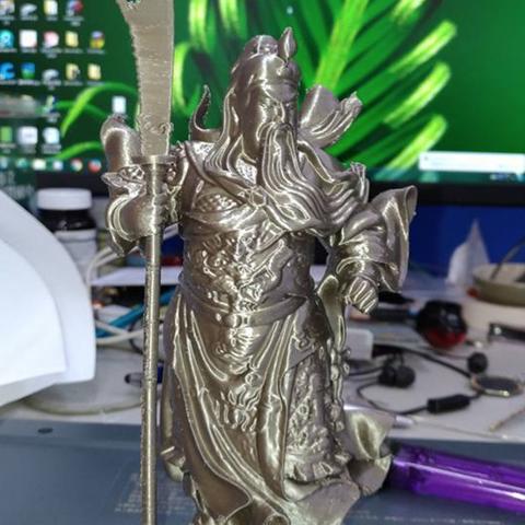 Download free STL file Guangon with guandou 拿關刀的關公啊update • 3D printing object, orangeteacher