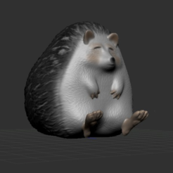 Download free 3D printer templates Hedgehog, orangeteacher