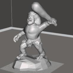 Objeto 3D hombre salvaje gratis, orangeteacher