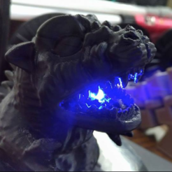 Download free 3D printing templates Godzilla, orangeteacher