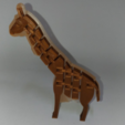 Free 3D printer designs Twists & bends Giraffe by orangeteacher, orangeteacher