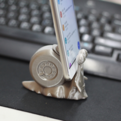 Free STL One Piece snail phone stand, orangeteacher