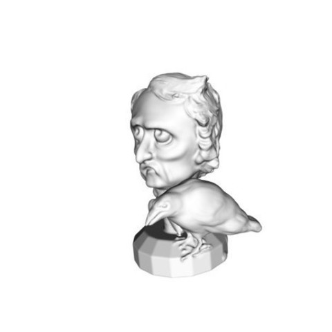 Edgar Allan Poe 3D printing Impression 3D 3D model1.jpg Download STL file Edgar Allan Poe • 3D printing design, Donegal3D