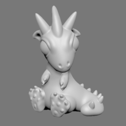 Capture d'écran 2017-05-15 à 09.46.46.png Download STL file Baby Dragon • 3D printing object, Donegal3D