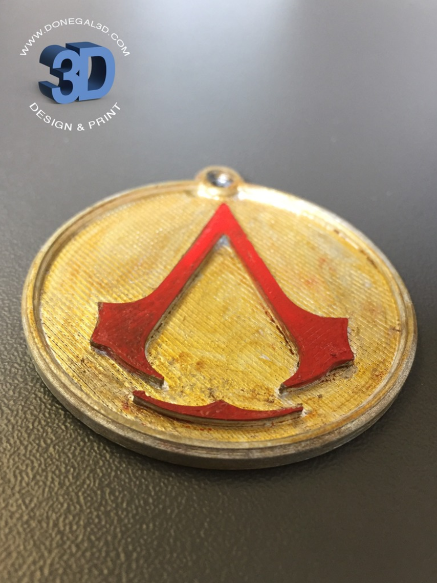 Capture d'écran 2017-05-15 à 09.37.17.png Download STL file Assassins Creed Keychain • 3D printer template, Donegal3D