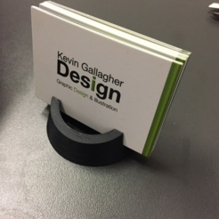Free 3d printer files  Business Card holder, Donegal3D