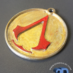 Capture d'écran 2017-05-15 à 09.36.50.png Download STL file Assassins Creed Keychain • 3D printer template, Donegal3D