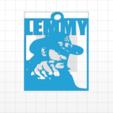 Download STL file Lemmy Keychain • 3D print model, Donegal3D