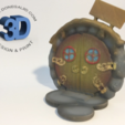 Download STL file Round Fairy Door • 3D print object, Donegal3D