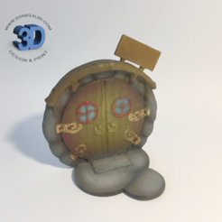 Round Fairy Door2.png Download STL file Round Fairy Door • 3D print object, Donegal3D