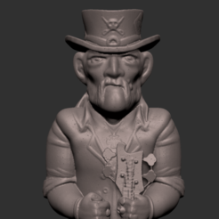Screenshot 2020-01-07 at 8.55.32 p.m..png Download STL file Lemmy Kilmister Motorhead • Object to 3D print, Donegal3D