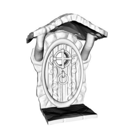 Download STL file Fairy Door with roof • Design to 3D print, Donegal3D