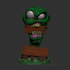 Screenshot 2018-10-13 at 11.21.16.png Download STL file Zombie Halloween Decor • 3D printable object, Donegal3D