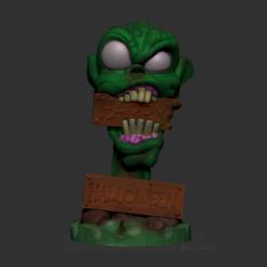 Screenshot 2018-10-13 at 11.21.16.png Télécharger fichier STL Décor d'Halloween Zombie • Design pour impression 3D, Donegal3D