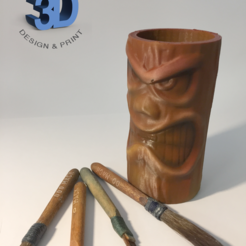 IMG_1202.png Download STL file Tiki Pot • 3D print model, Donegal3D