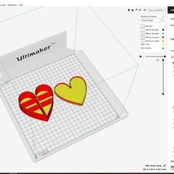 Fichier imprimante 3D Boite Coeur, Jus