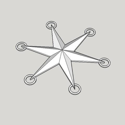 Free STL files Star Fir tree, Jus