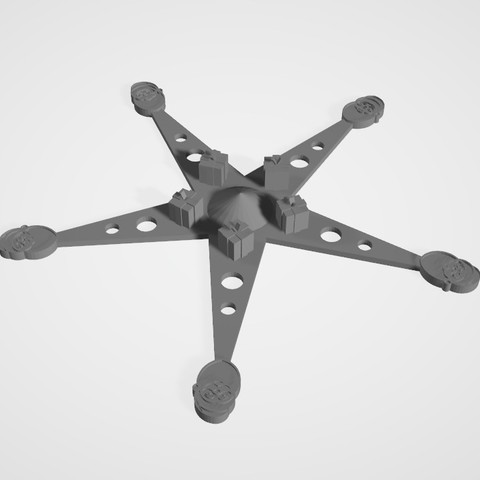 Download 3D printing templates Star to put in the tree, Jus