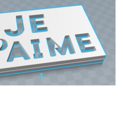 Descargar archivo 3D gratis placa perforada Te amo, diablolx