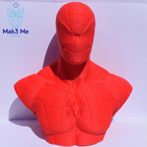 1.png Télécharger fichier STL gratuit Buste Spiderman - STL • Design imprimable en 3D, Mak3_Me_Studio