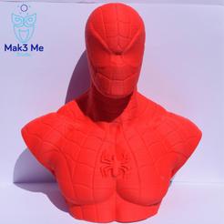1.png Download free STL file Spiderman Bust - STL • Design to 3D print, Mak3_Me_Studio