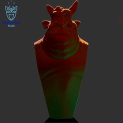 1.png Download STL file Gargoyle bust - gargoyle bust, abc, fbx, obj, stl • 3D printer model, Mak3_Me_Studio