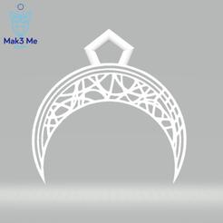 1.png Télécharger fichier STL Le Pendentif Lune deux versions - svg, stl, obj • Design pour impression 3D, Mak3_Me_Studio