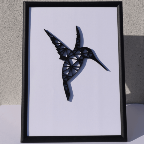 Download 3D printing files Poly/vector hummingbird., Mak3Me