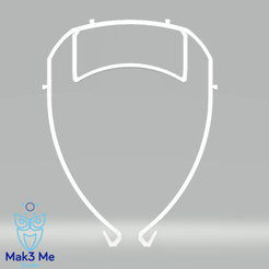 2.png Download free STL file Visor : Optimization : Glasses • Model to 3D print, Mak3_Me_Studio