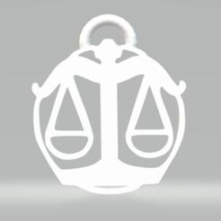 Balance.PNG Télécharger fichier STL Les Pendentifs Signes astrologiques / Signes du Zodiaque - stl, obj, svg • Design pour imprimante 3D, Mak3_Me_Studio