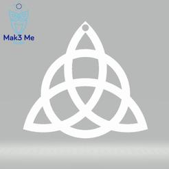 Pendentif - Triquetra.png Download STL file The TRIQUETRA Pendant - stl, obj, svg • 3D printable model, Mak3_Me_Studio