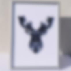 3D printer files Poly/vector deer., Mak3Me