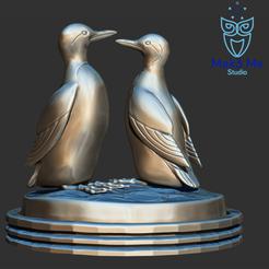 3.png Download STL file Guillemot duo version (birds / bird), ABC, FBX, MTL, OBJ, STL • 3D printer design, Mak3_Me_Studio