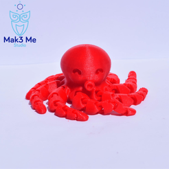 1.png Download free STL file Articulated Octopus • Object to 3D print, Mak3_Me_Studio
