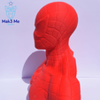 4.png Télécharger fichier STL gratuit Buste Spiderman - STL • Design imprimable en 3D, Mak3_Me_Studio