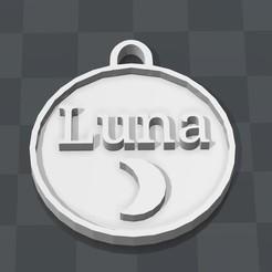 """STL Cat/Dog """"Luna"""" Medallion, Bommertm"""