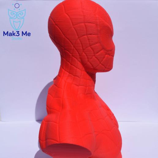 3.png Télécharger fichier STL gratuit Buste Spiderman - STL • Design imprimable en 3D, Mak3_Me_Studio