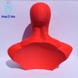 2.png Télécharger fichier STL gratuit Buste Spiderman - STL • Design imprimable en 3D, Mak3_Me_Studio