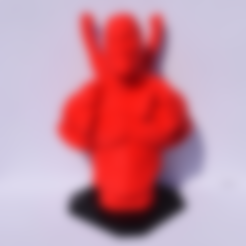 Free 3D print files DeadPool Bust, Mak3Me