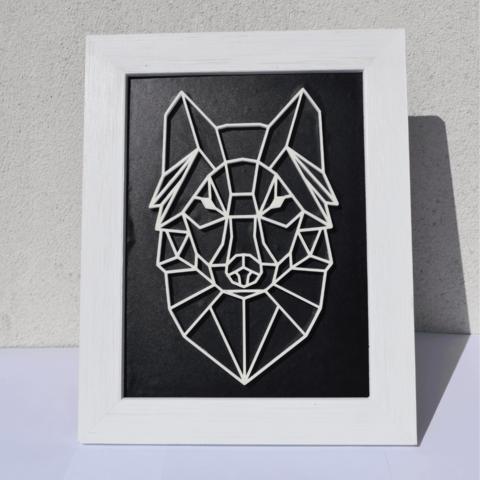 3D printer files Poly/vector wolf., Mak3Me