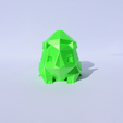Download free 3D printing templates Low-Poly Bulbasaur, Mak3Me