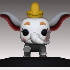 dumboclown.jpg Download OBJ file Dumbo PopFunko Clown 3D print model • 3D printer model, MNX182